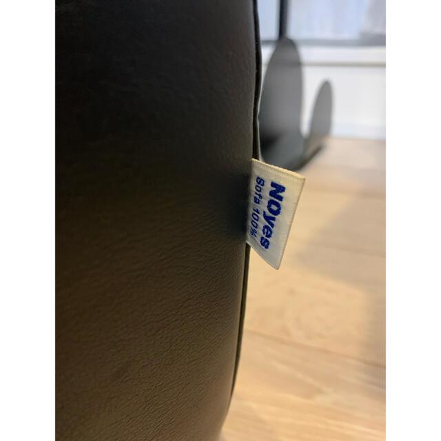 Noyes オットマン 黒レザー インテリア/住まい/日用品のソファ/ソファベッド(オットマン)の商品写真