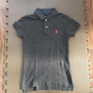 ラルフローレン(Ralph Lauren)の☆ラルフローレン☆チャコールグレー ピンクロゴ レディース S(ポロシャツ)
