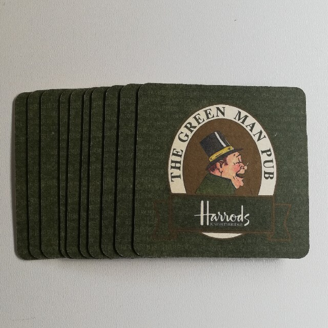 Harrods(ハロッズ)の未使用 ハロッズ コースター 10枚セット インテリア/住まい/日用品のキッチン/食器(テーブル用品)の商品写真