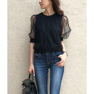 DOUBLE STANDARD CLOTHING - ★完売品★ダブスタ akko×sov. チュールカットソー ブラック38