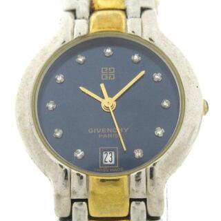 ジバンシィ(GIVENCHY)のジバンシー 腕時計 - レディース ネイビー(腕時計)