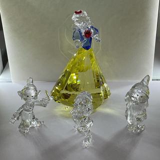 スワロフスキー(SWAROVSKI)の白雪姫と小人3点セット スワロフスキーDisney(置物)