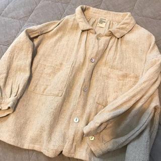 リネン ブラウス シャツ 100 韓国子供服 モンミミ フタフタ zara(ブラウス)