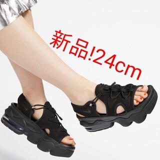 ナイキ(NIKE)のNIKE AIR MAX KOKO ナイキ エアマックスココ ブラック 黒 24(サンダル)
