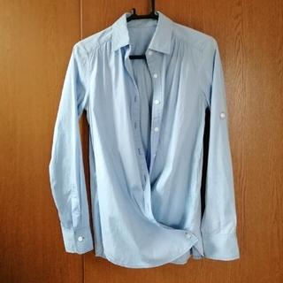 ロペ(ROPE)のROPE シャツ ブラウス カシュクール ロールアップ ツーウェイ ブルー 36(シャツ/ブラウス(長袖/七分))
