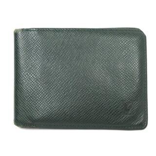 ルイヴィトン(LOUIS VUITTON)のルイヴィトン タイガ ポルトビエ 3ヴォレ 二つ折り 財布 M30422 緑(その他)