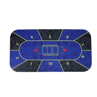 ポーカーマット ラバーフォームカジノマット 120×60cm ブルーb(トランプ/UNO)