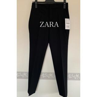 ザラ(ZARA)の【未使用タグ付き】ZARA☆ブラックベーシックパンツ(カジュアルパンツ)