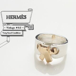 エルメス(Hermes)の新品仕上げ HERMES エルメス リボン 925 750 リング 9.5号(リング(指輪))