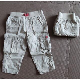 ベビーギャップ(babyGAP)の2着! 90 babyGAP カーゴパンツ 双子 送料込み (パンツ/スパッツ)