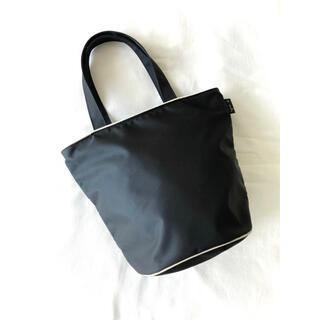 agnes b. - 【希少】アニエスベー『バケツ型 ナイロントートバッグ』ブラック/肩掛け可/美品