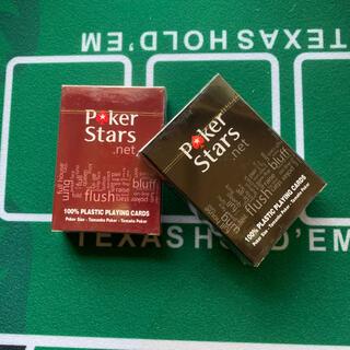 ポーカースターズ プラスチックトランプ 赤黒(トランプ/UNO)