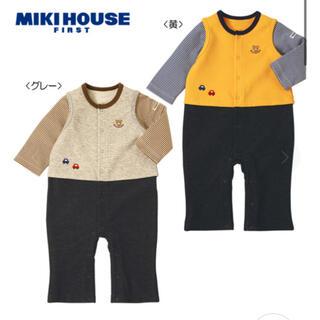 ミキハウス(mikihouse)のミキハウス くまちゃんの重ね着風カバーオール 80㎝(カバーオール)