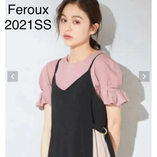 フェルゥ(Feroux)の販売中今季♡Feroux フェルゥ ♡抗菌防臭タックスリーブTシャツ(Tシャツ(半袖/袖なし))