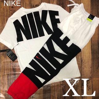 ナイキ(NIKE)の新品 NIKE ナイキ ビッグロゴ Tシャツ&ウーブンパンツ 上下セット XL(Tシャツ/カットソー(半袖/袖なし))