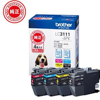 brother - 「新品」インク ブラザー 純正  LC3111-4PK お徳用4色パック