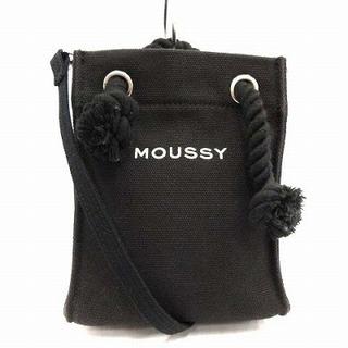 マウジー(moussy)のマウジ スーベニアショッパー ショルダーバッグ 黒(ショルダーバッグ)