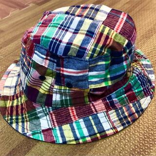 ベビーギャップ(babyGAP)のbabyGAP チェック帽子 ハット(帽子)