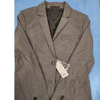 ユニクロ(UNIQLO)のユニクロ women ストレッチジャケット Mサイズ グレー(テーラードジャケット)