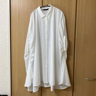 ザラ(ZARA)のZARA ロングシャツ(シャツ/ブラウス(半袖/袖なし))