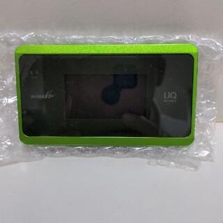 au - wx06 モバイルルーター WiMAX ルーター au uq ライム グリーン