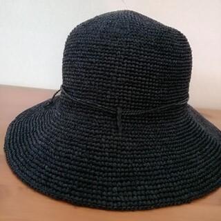 ムジルシリョウヒン(MUJI (無印良品))の無印良品 キャペリン ネイビー  55㎝~57.5㎝(麦わら帽子/ストローハット)