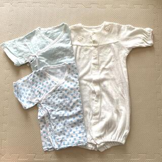 アカチャンホンポ - 新生児 カバーオール パイル生地 2wayオール 短肌着 3枚セット 50 60