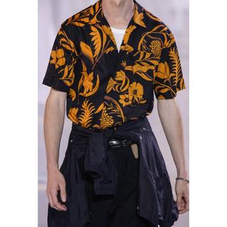 Maison Martin Margiela - ami alexandre mattiussi ボタニカル柄オープンカラーシャツ