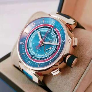 ルイヴィトン(LOUIS VUITTON)のルイ ヴィトン 88本限定 18K PG タンブール ヴォヤージュ クロノ(腕時計(アナログ))
