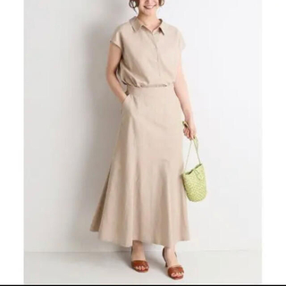 IENA SLOBE - リネン マーメイドスカート
