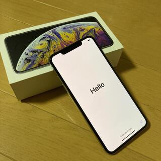 アイフォーン(iPhone)のiPhone Xs Max Silver 256 GB au SIMフリー 本体(スマートフォン本体)