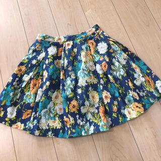 ダズリン(dazzlin)の美品 ダズリン 花柄スカート フレアスカート(ミニスカート)