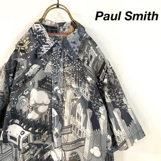 Paul Smith - 希少 Paul Smith  MOTHER motif 総柄 デザインシャツ