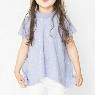 branshes ブランシェス UVカット ドット柄 半袖 Tシャツ 140cm