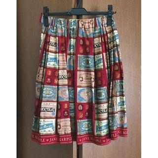 ジェーンマープル(JaneMarple)の【Jane Marple】スカート │猫柄 ・チョコレート柄(ひざ丈スカート)