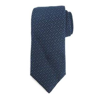 エルメス(Hermes)のエルメス HERMES ネクタイ シルク 金具柄 総柄 紺 ネイビー 青(ネクタイ)