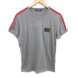 ドルチェアンドガッバーナ(DOLCE&GABBANA)のドルチェ&ガッバーナ Tシャツ カットソー プレート 半袖 48 M グレー(Tシャツ/カットソー(半袖/袖なし))