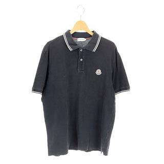 MONCLER - モンクレール MONCLER ポロシャツ 半袖 ロゴワッペン L 黒 /AA