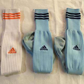 アディダス(adidas)のサッカーソックス 中古 22〜24 3足(靴下/タイツ)