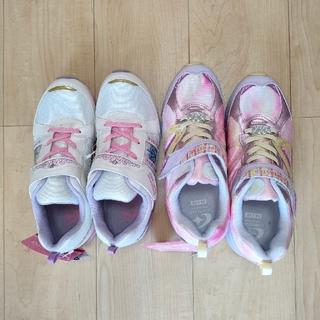 ムーンスター(MOONSTAR )の新品タグ付シューズ 運動靴 バネのチカラ 24㎝ 24.5㎝ 2足セット(スニーカー)