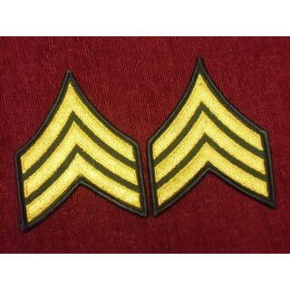 ★アメリカ軍*陸軍*メロウエッジ*3等軍曹*袖章/階級章(実物)(その他)