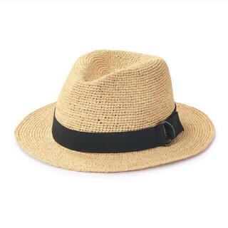 ムジルシリョウヒン(MUJI (無印良品))のMUJI 無印良品 ラフィア たためる 中折れ帽子 55〜57.5cm・生成(麦わら帽子/ストローハット)