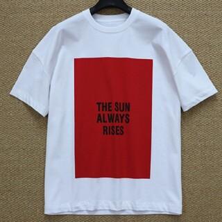 ジルサンダー(Jil Sander)の【白+赤XL】2枚で9800円です新品 JIL SANDER  Tシャツ(Tシャツ/カットソー(半袖/袖なし))