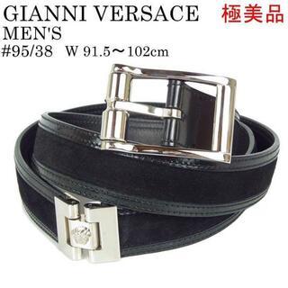 ジャンニヴェルサーチ(Gianni Versace)のヴェルサーチ 極美品 メンズ 95/38 91.5~102cm レザー ベルト(ベルト)