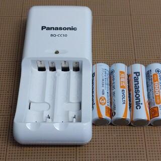 パナソニック(Panasonic)のbq-cc10 パナソニック エボルタ 充電器+単3電池 4本セット(バッテリー/充電器)