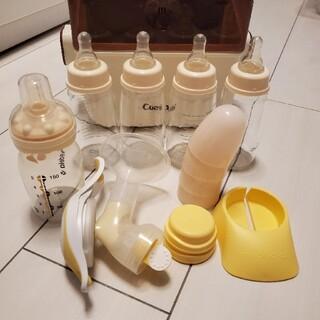 コンビ(combi)のメデラ搾乳機手動 コンビ哺乳瓶消毒ケース / Chu Chu 哺乳瓶 乳首セット(哺乳ビン)