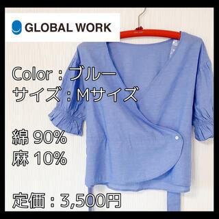 グローバルワーク(GLOBAL WORK)の【Mサイズ】GLOBAL WORK グローバルワーク トップス 夏 半袖 リボン(シャツ/ブラウス(半袖/袖なし))