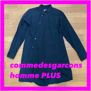 COMME des GARCONS HOMME PLUS - 18AW コムデギャルソンオムプリュス 捻れシャツ 黒 M ねじれ