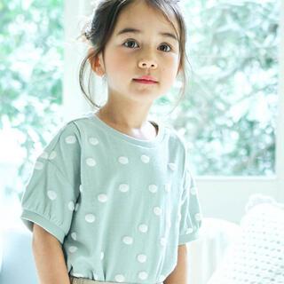 ブリーズ(BREEZE)のapres les cours ドットジャカード Tシャツ 100cm(Tシャツ/カットソー)