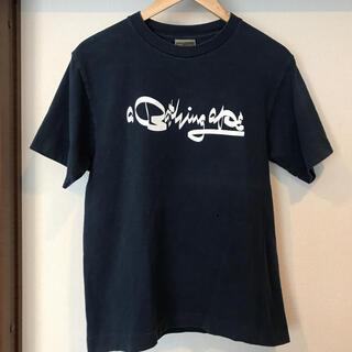 アベイシングエイプ(A BATHING APE)の激レア futura × bape 初期 筆記体ロゴ Tシャツ M ネイビー(Tシャツ/カットソー(半袖/袖なし))